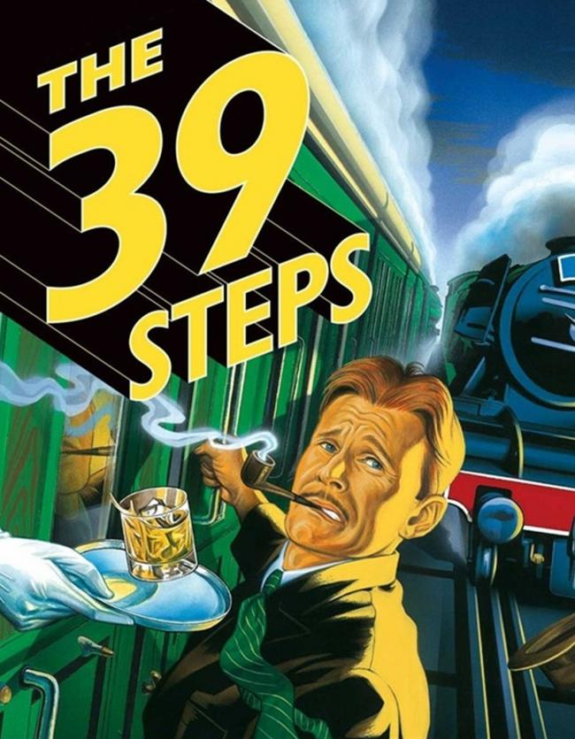 A poster for The 39 Steps