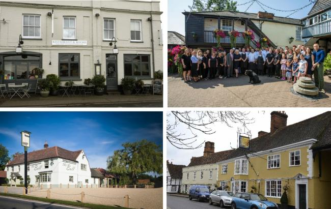 The Mistley Thorn, The Bell Inn, The Bull Great Totham and The Sun Inn Dedham