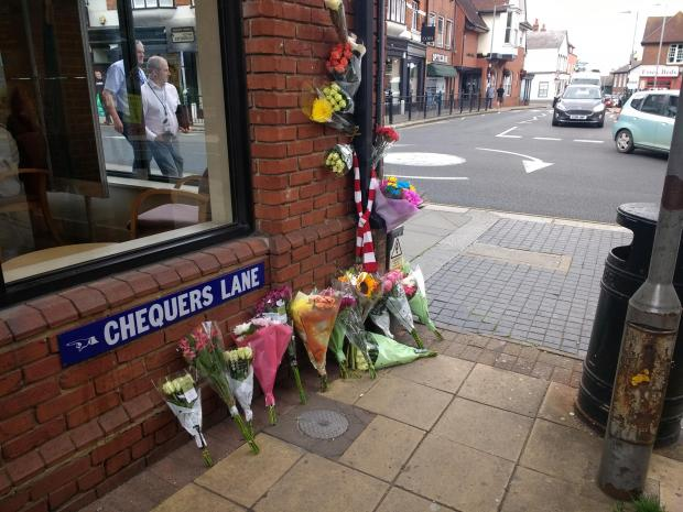 Maldon and Burnham Standard: Floral tributes for 27 year old man who died after high street incident