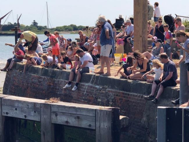 POPULAR WEEKEND: Last year's Heybridge Basin Regatta drew big crowds to watch the action taking place on the water