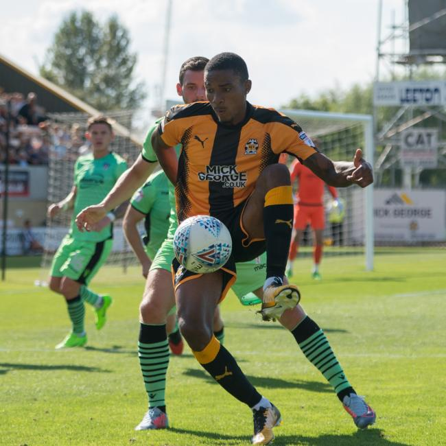 U's new signing Jevani Brown, in action for Cambridge United