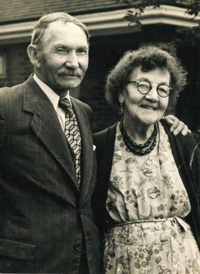 Couple - Ernest and Alice in later life.