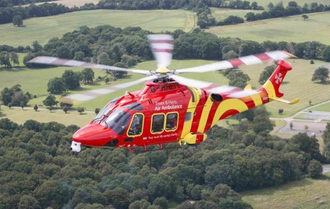 Air ambulance lands after sudden death of woman