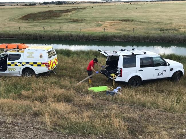 WASHED UP: The coastguard team discovered the dolphin near Goldhanger Photo: South Woodham Coastguard Rescue Team