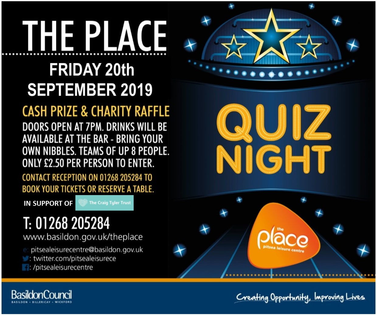 Quiz Night – CASH Prize