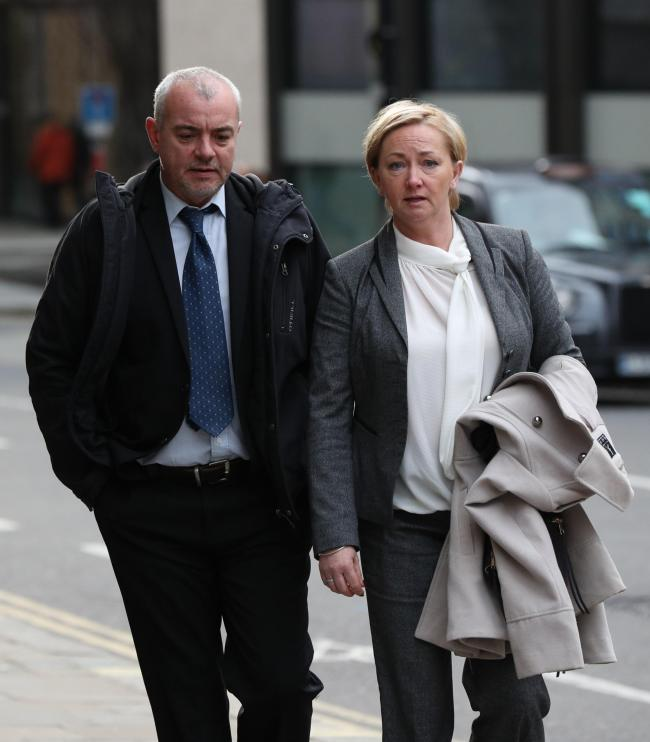 Lee Pollard and Sharon Patterson leaving the Old Bailey in London. Picture: Jonathan Brady/PA Wire