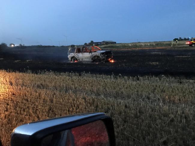Damage caused by fire in Broadward farm field 3. Photo by Ben Fisher