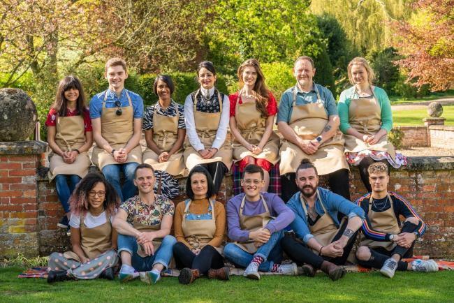 The Bake Off 2019 cast. Picture:  C4/Love Productions/Mark Bourdillon/PA Wire