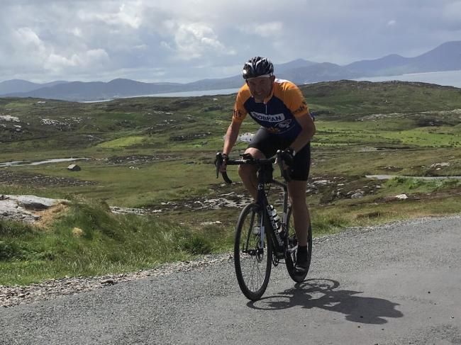 980 MILES - Brian English, from South Woodham Ferrers is set to cycle from Land's End to John O'Groats to raise cash for the charity, Sands