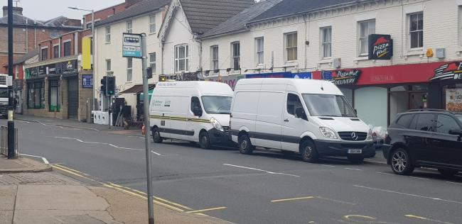 Scene - HMRC officers were in North Station Road, Colchester