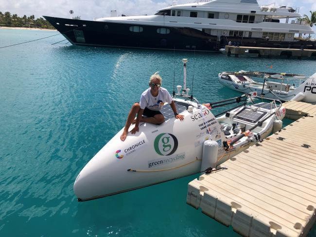 Row Aurora: Dawn Wood will be giving a talk about her experience when she rowed 3,000 miles from Gran Canaria to Barbados earlier this year, when she appears at Burnham Yacht Club on Saturday