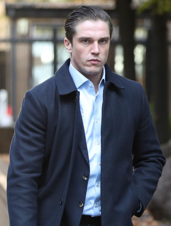 TOWIE star Lewis Bloor arrives at Southwark Crown, London, where he is charged, along with six others, with conspiracy to defraud, involving the marketing and selling of coloured diamonds between May 2013 and June 2014 for investment purposes, knowing th