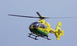 Essex air ambulance are at the scene
