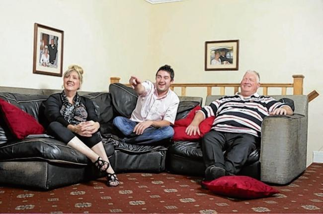 Jailed - George Gilbey (centre) pictured with his parents on Channel 4's Gogglebox