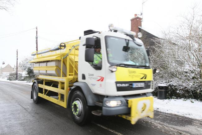A gritter lorry