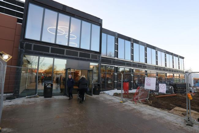 The new front of Colchester Hospital