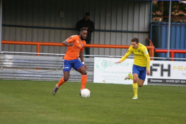 Rhys Murrell-Williamson scored Braintree's goal against Chelmsford. Picture: Jon Weaver