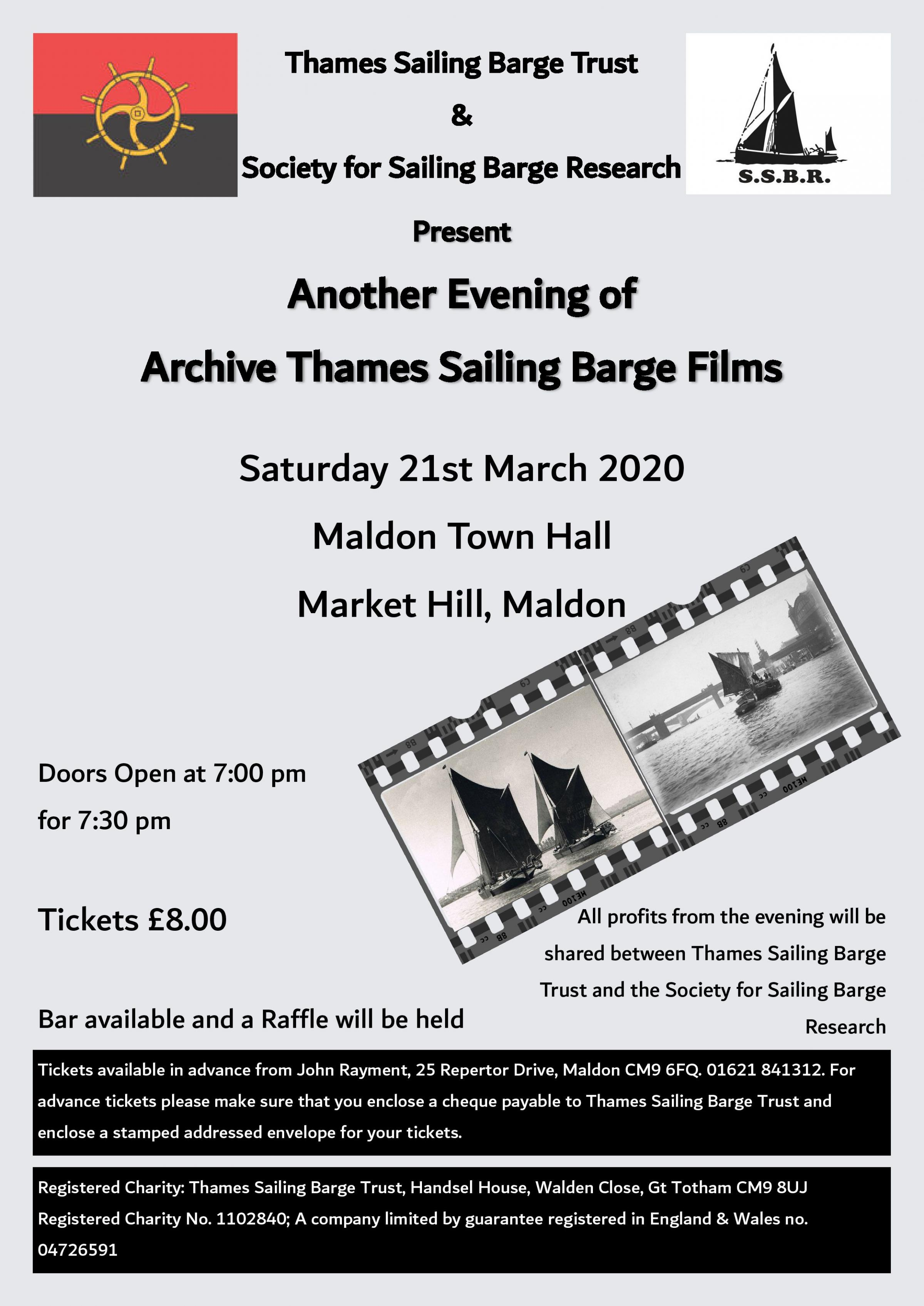 Archive Thames Sailing Barge Film Show