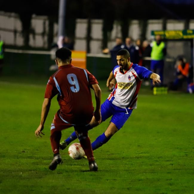 Jordan Lartey was the hat-trick hero for Clacton against Gorleston Picture: Rob Smith (RJS Photography)