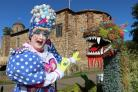 Laughs - Anthony Stuart-Hicks, pantomime dame, outside Colchester Castle Pictures: Visit Essex