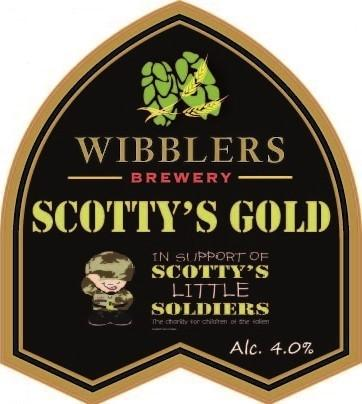 CHARITY CHEER: The new Scotty's Gold ale by Wibblers