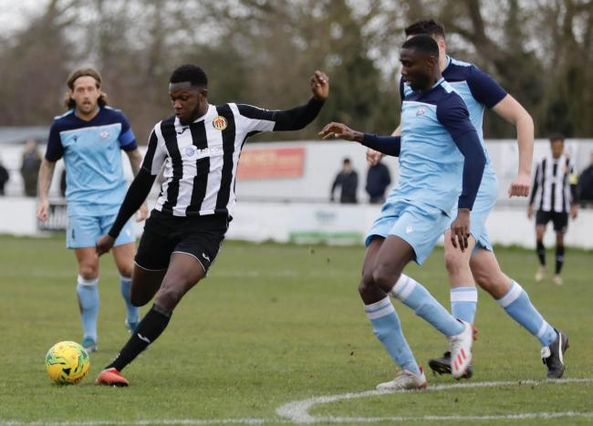 WENT CLOSE - Heybridge Swifts' Alex Teniola