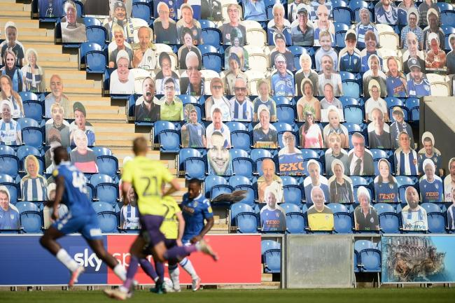 Watching brief - Colchester United supporters were unable to attend their behind closed doors play-off semi-final against Exeter City Picture: RICHARD BLAXALL