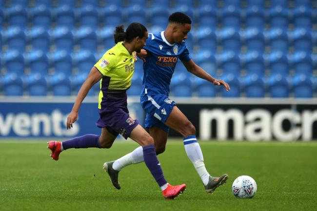 In full flight - Colchester United's Cohen Bramall in action against Exeter City in their play-off semi-final first leg Picture: RICHARD BLAXALL