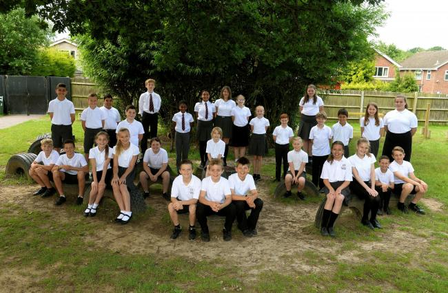 A picture of last year's year six group at St Johns School, in Colchester