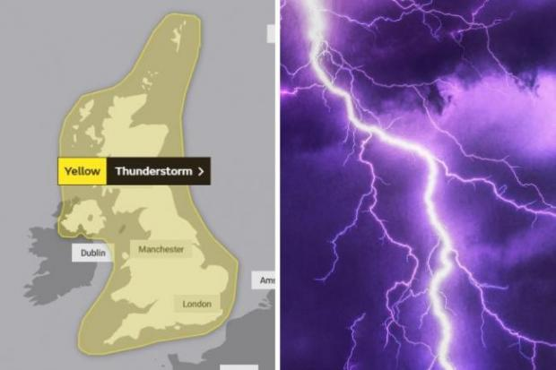 Maldon and Burnham Standard: The Met Office said the south east would experience thunderstorms between Wednesday and Thursday