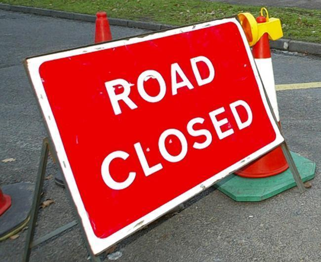 The A414 is closed in Maldon
