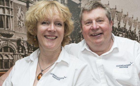 Penny and Garry Lowen, owners of The Gleneagles Guesthouse