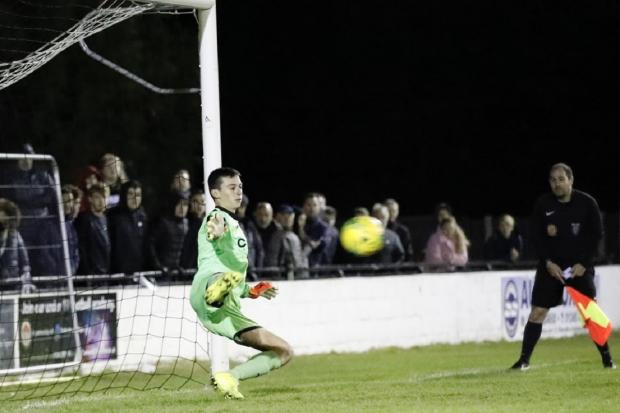JW 29 Sep 2020 soccer swifts fa youth cup soccer swifts keeper brad davison saves from the spot picture by ALAN EDMONDS