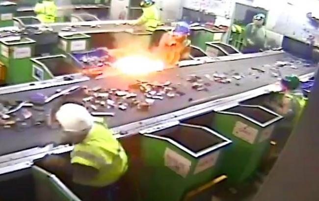 Southend is joining the fight against so-called zombie batteries. The picture shows one exploding