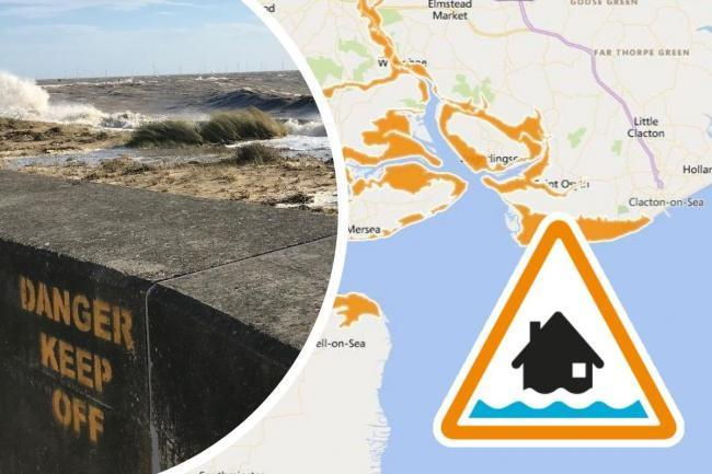 Flood - warning are along the Essex coast