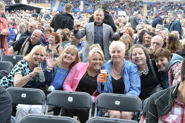 Maldon and Burnham Standard: steve brading 29-06-14 sun Elton John at Weston Homes Stadium, Colchester.