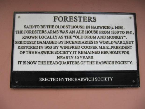 Maldon and Burnham Standard: Permanent reminder - The Foresters Arms was in Church Street. Now in residential use, this plaque is on the side of the building. The pub closed in July 1942