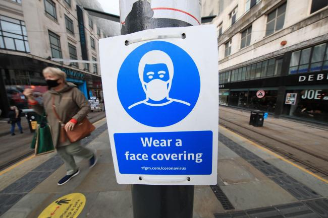 From March 27 last year to April 18 this year there were 24 for failing to wear a face covering when required. Picture: PA