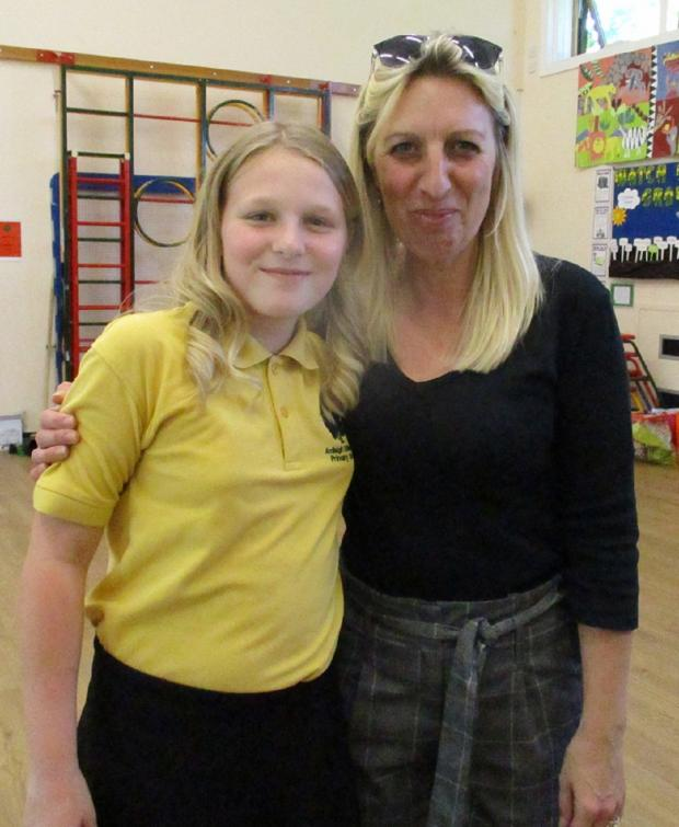 Maldon and Burnham Standard: Inspirational - Emma Thrower and daughter Mollie. It was taken when Mrs Thrower helped her daughter organise a tea at Ardleigh St Marys Primary School