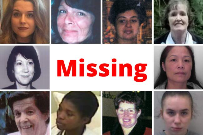 The 10 women MISSING from the East of England