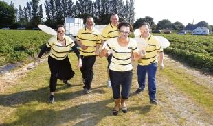 The Honey Room team buzzes into action.
