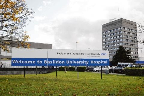 The patient was taken to Basildon Hospital