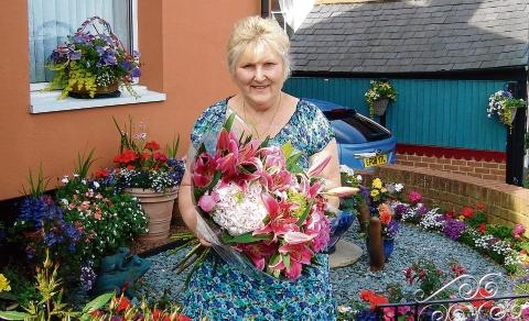 Christine Warren who won Maldon in Bloom's Best Front Garden with husband Albert