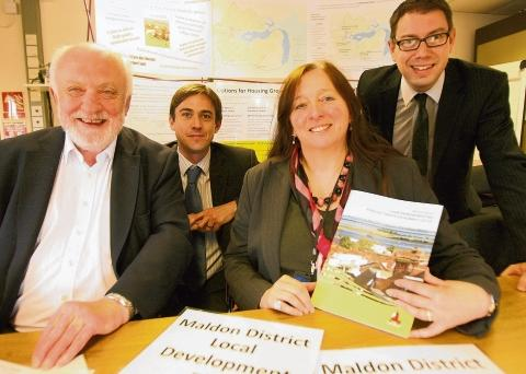 Penny Channer (second right) with Maldon District Council's LDP consultation document