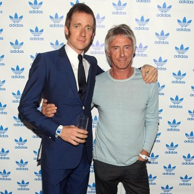 Bradley Wiggins meets his hero Paul Weller at the Adidas Underground event
