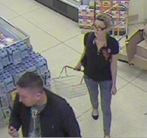 A CCTV image of the two people police want to speak to
