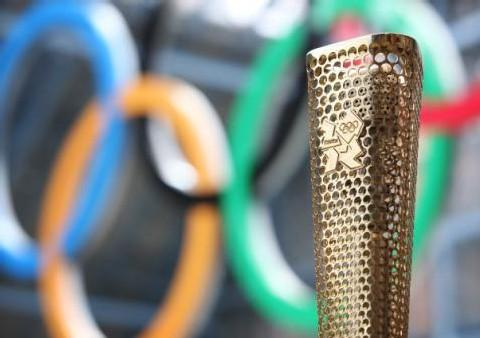 Maldon: Olympic torch goes on display at council