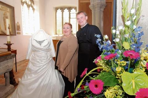 Burnham: Brides of past 70 years fill church with dresses