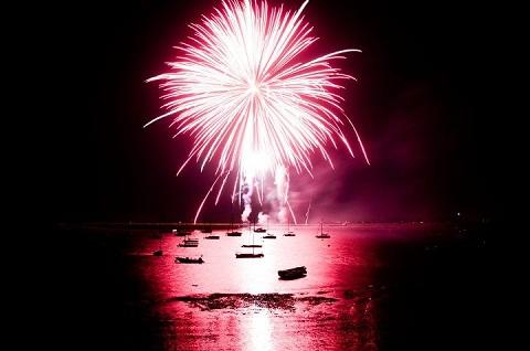 Fireworks light up the River Crouch. Picture: Lewis Walsh