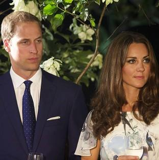 The Duke and Duchess of Cambridge attend a British High Commission reception at Eden Hall in Singapore